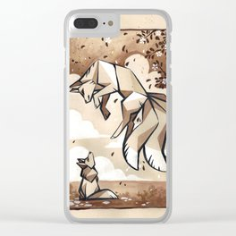 Eager teacher - kitsune ink painting Clear iPhone Case