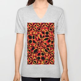 orange red circle pattern Unisex V-Neck