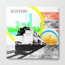 Locals Only - Boston Metal Print