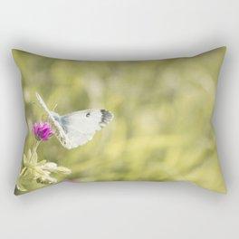 Butterfly on a flower Rectangular Pillow