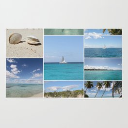 Scenic Caribbean Collage Rug