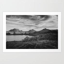 Loch Buine Moire Art Print