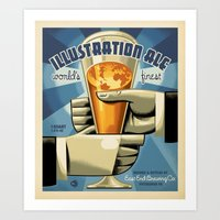 ale giorgini Art Prints featuring ILLUSTRATION ALE by Mark Bender