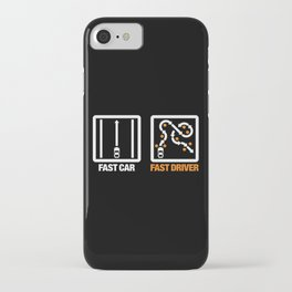 Fast Car - Fast Driver v3 HQvector iPhone Case