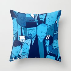 Breaking Bad (blue version) Throw Pillow