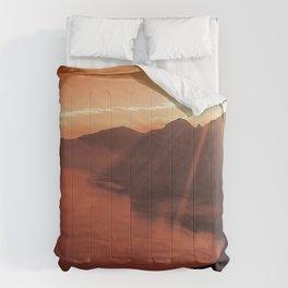 Sunset coucher de soleil Comforters