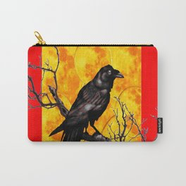 Oriental Style Red Crow Tree Art Carry-All Pouch