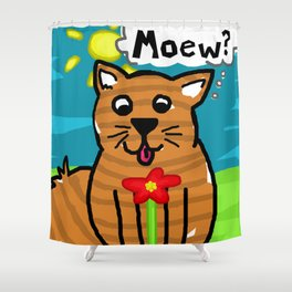 Kiddy Cat Shower Curtain