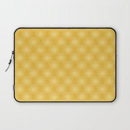 Bright Gold Art Deco Curved Fan Pattern Laptop Sleeve