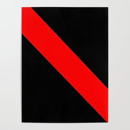 Oblique red and black Poster