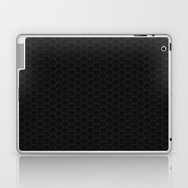 Black Metal Hexagon Shape Pattern Laptop & iPad Skin