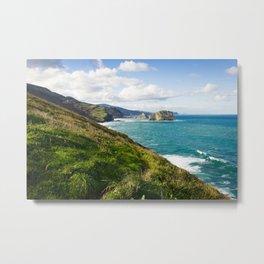 Basque Country coast landscape Metal Print