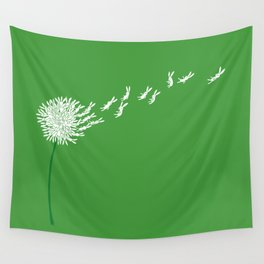 Escape from the dandeLION Wall Tapestry