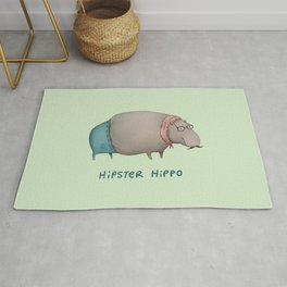 Hipster Hippo Rug