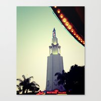 cinema Canvas Prints featuring cinema  by Lola Byrd