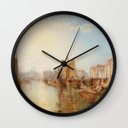 The Harbor of Dieppe J. M. W. Turner Wall Clock