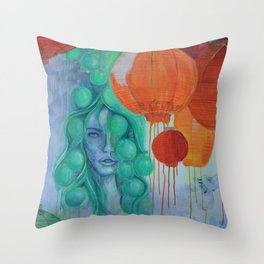 NIGHTMARKET Throw Pillow