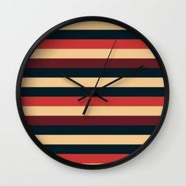 Solid Striped Wall Clock