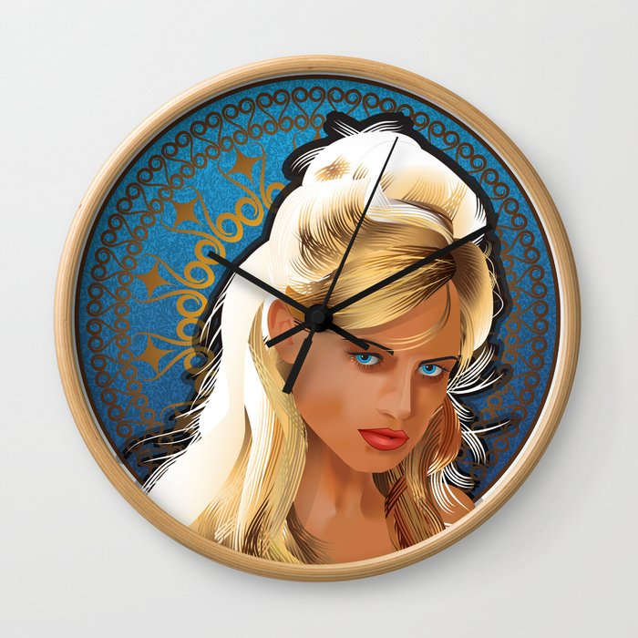 Art Nouveau Girl Wall Clock