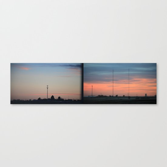 In The Plains (Planes) Field Canvas Print