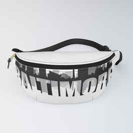 Baltimore Silhouette Skyline Fanny Pack