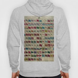 Vintage Naval Flags of The World Illustration Hoody