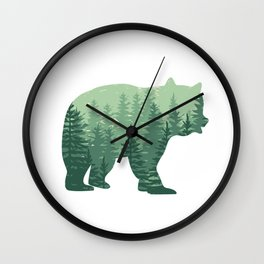 Forest Bear Wall Clock