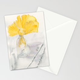 Ginkgo and Marble Stationery Cards
