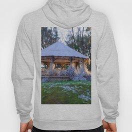 Kiosk in winter Hoody
