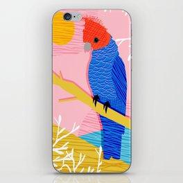 Blazin - memphis throwback tropical bird art parrot cockatoo nature neon 1980s 80s style retro cool iPhone Skin