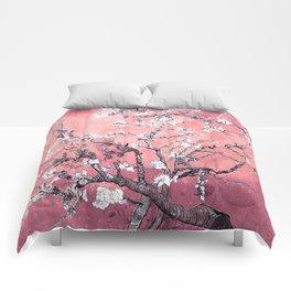 Van Gogh Almond Blossoms : Peachy Pink Comforters