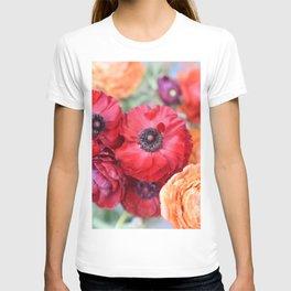 Rosey Ranunculus T-shirt