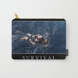 Survival: Inspirational Quote and Motivational Poster Carry-All Pouch