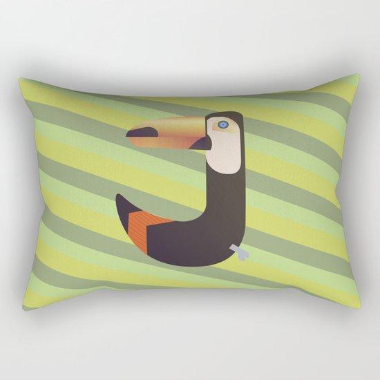 Toucan J Rectangular Pillow