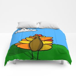 Standing Turkey Friend | Veronica Nagorny  Comforters