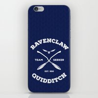 quidditch iPhone & iPod Skins featuring Ravenclaw Quidditch Team Seeker: Blue by Sharayah Mitchell