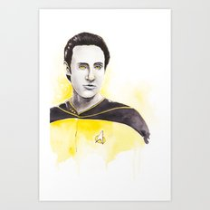 Lieutenant Commander Data Art Print