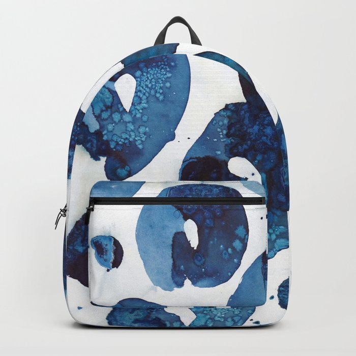 Connected blue circles Backpack