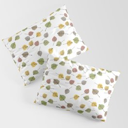 Colorado Aspen Tree Leaves Hand-painted Watercolors in Golden Autumn Shades on Clear Pillow Sham
