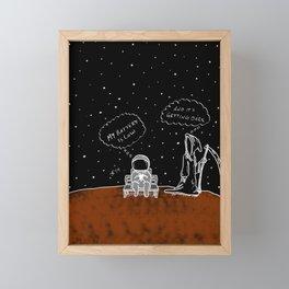 Opportunity Is Dark Framed Mini Art Print