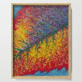 Vibrant Colors in an Autumn Leaf Serving Tray
