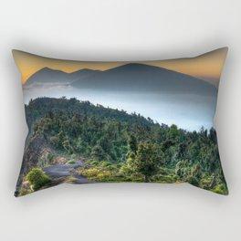 Volcanic Sunset Rectangular Pillow