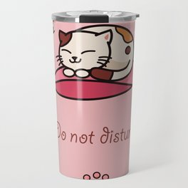 Do not disturb - cute cat sleeping Travel Mug