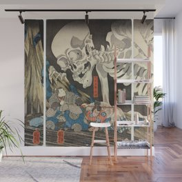 Takiyasha the Witch and the Skeleton Spectre Wall Mural