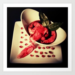 Intestinal Soup & Pomegranate Seeds Art Print