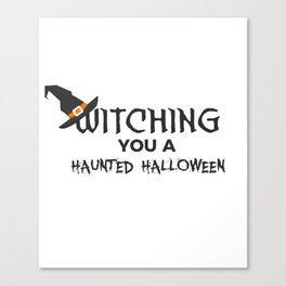 Witches Witching A Haunted Halloween Design Canvas Print