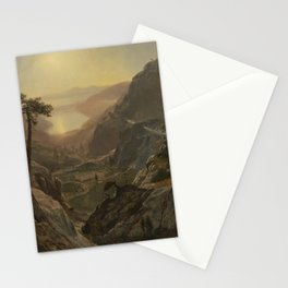 Albert Bierstadt - View of Donner Lake, California (1872) Stationery Cards