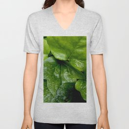 Nature and Greenery 24 raindrop Unisex V-Neck