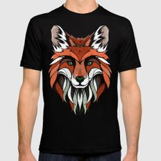 Fox // Colored Black Mens Fitted Tee MEDIUM