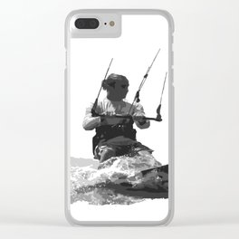 Catch A Wave Kitesurfing Vector Clear iPhone Case